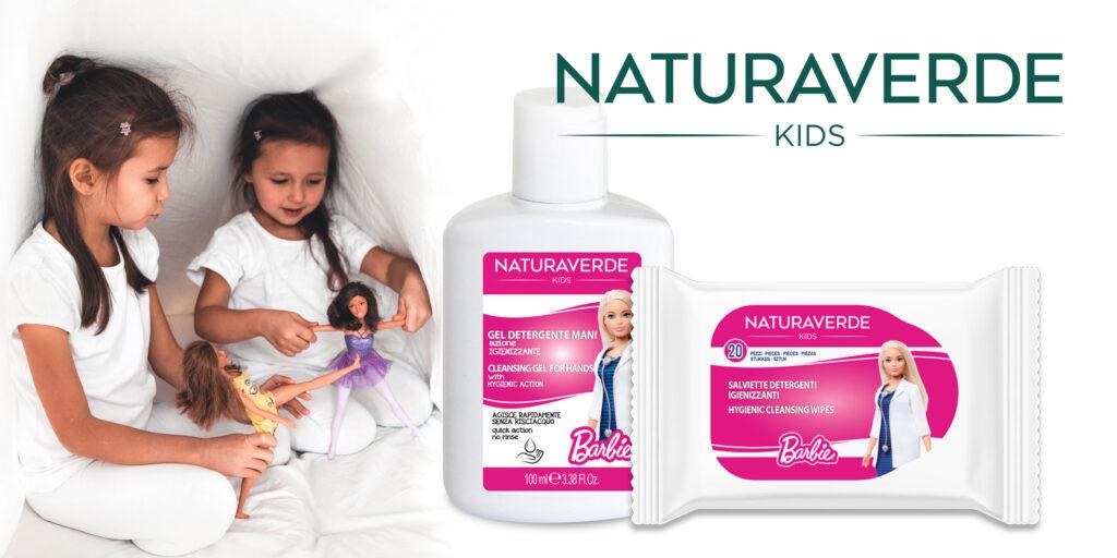 igienizzanti bambini Barbie Naturaverde per i bambini